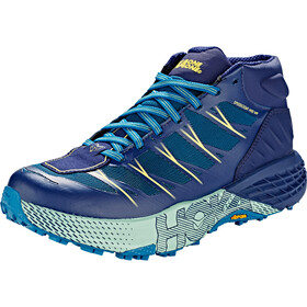 Hoka One One Speedgoat WP Mid Running Shoes Women seaport/medieval blue